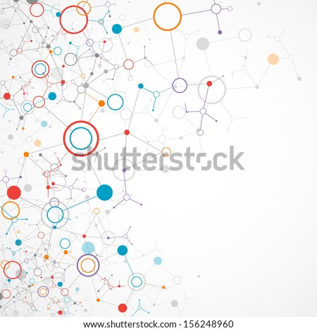 Network color technology communication background