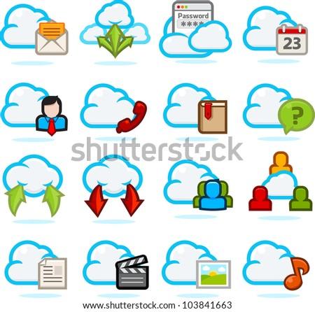 Network Communication Icon set C