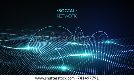 network concept blue vector