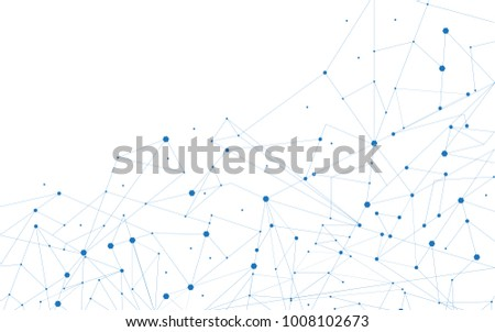 Network connection isolated on white background. For web site, wallpaper, poster, placard, ad, cover and print materials. Creative art, modern abstract concept. Vector illustration network