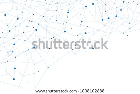 Network connection isolated on white background. For web site, wallpaper, poster, placard, ad, cover and print materials.