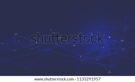 Network connection plexus digital futuristic technology, Abstract vector background