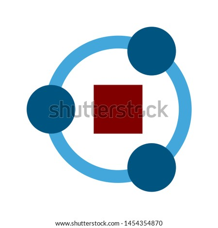 network icon. flat illustration of network. vector icon. network sign symbol