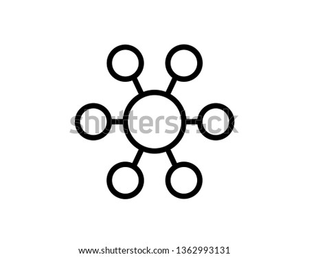 Network icon., Network icon vector, in trendy flat style isolated on white background. Network icon image, Network icon illustration - Vector
