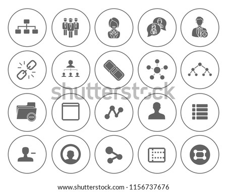 Network Icons, Communication icons set - social media and web network, computer sign and symbols