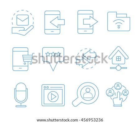 network icons, social media icons