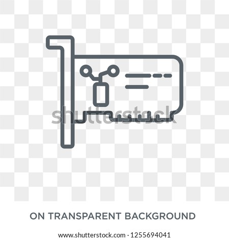 Network Interface Card icon. Trendy flat vector Network Interface Card icon on transparent background from hardware collection. High quality filled Network Interface Card symbol use for web and mobile