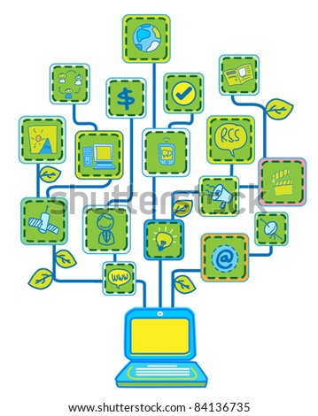 Network Internet Tree Technology Communication vector