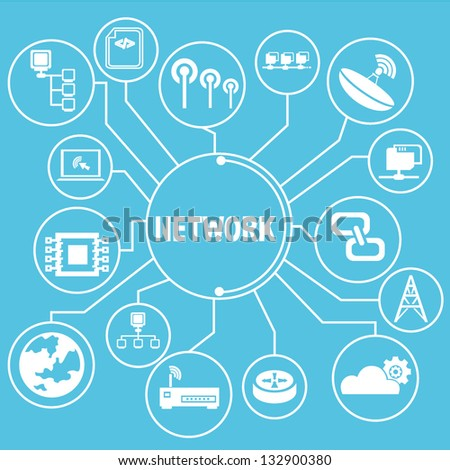 network template, network info graphics