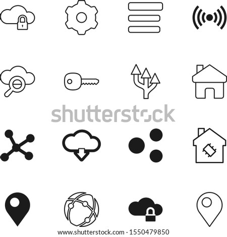 network vector icon set such as: curve, menu, user, stamp, connected, download, automation, control, object, cog, networking, game, construction, secret, progress, wi, mechanical, magnifying
