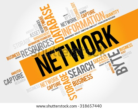 network word cloud  business