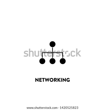 networking icon vector. networking sign on white background. networking icon for web and app