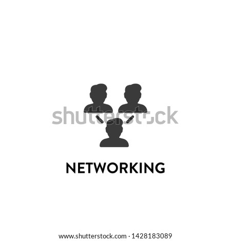networking icon vector. networking vector graphic illustration