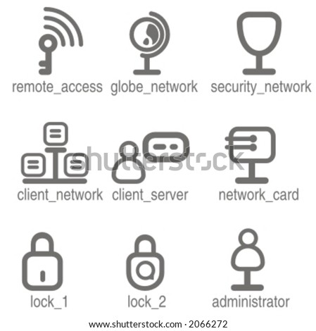 Networking icons set 1. Check my portfolio for many more images from this series.