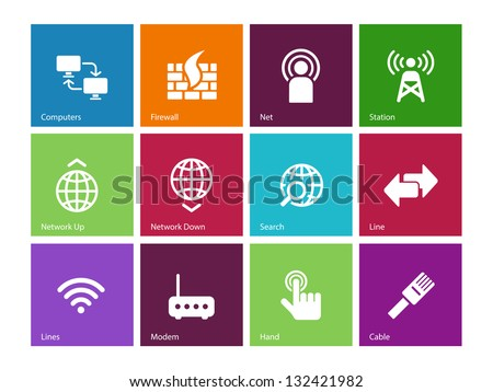 Networking icons. Vector illustration.