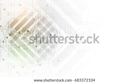 Neural network concept. Connected cells with links. High technology process. Abstract background #683372104