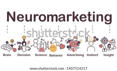 Neuromarketing icon, brain, decision, science, behavior, advertising, instinct and insight