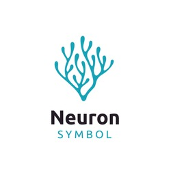 Neuron Nerve Cell or Coral Seaweed logo design inspiration