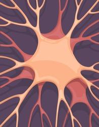 Neuronal cells background. Vector illustration