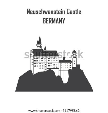 neuschwanstein castle  flat