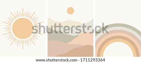 neutral colors abstract art set