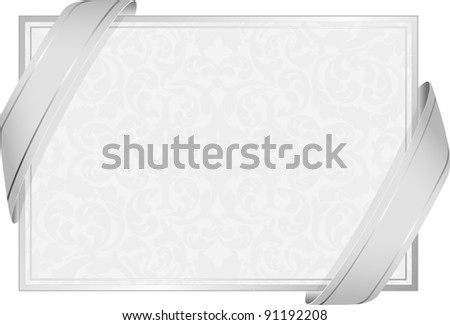 neutral white background  with ribbons