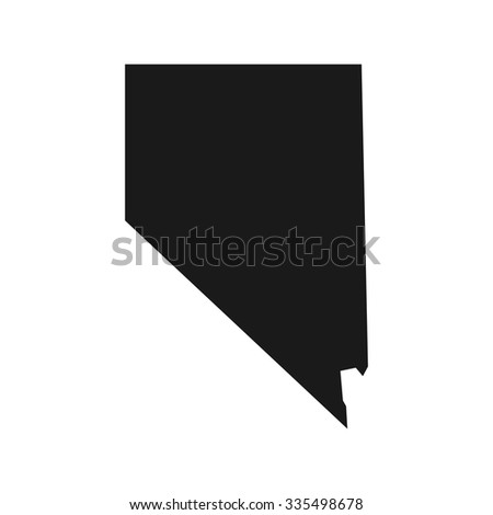 Shutterstock nevada map. nevada logo template.