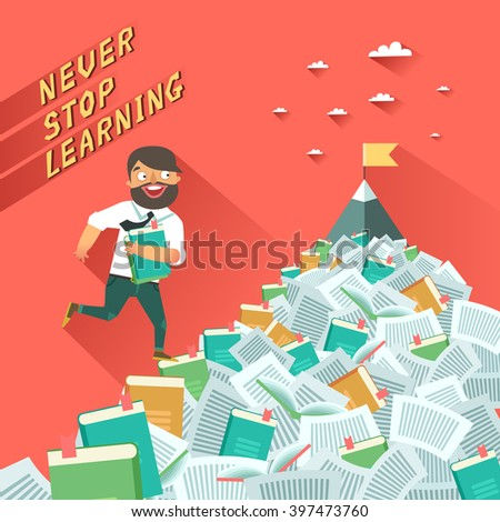 never stop learning man with