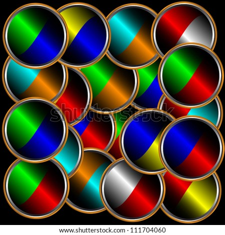 New abstract background from circles of different color