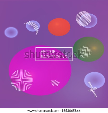 New abstract colorful background. Clean backdrop with colored bubbles and white shapes. Vector illustration texture. Pink trendy soft blurred forms and elegant smooth blend.