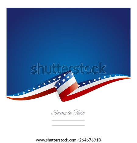 new abstract usa flag ribbon