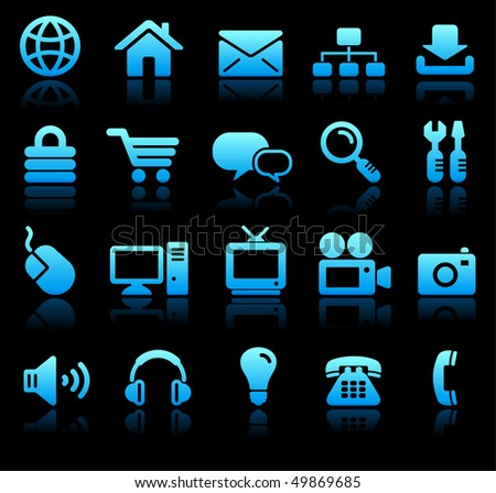 New Age Technology Icons Collection Original Vector Illustration