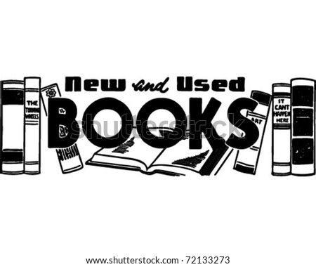 New And Used Books - Retro Ad Art Banner