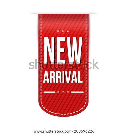 New arrival banner design over a white background, vector illustration