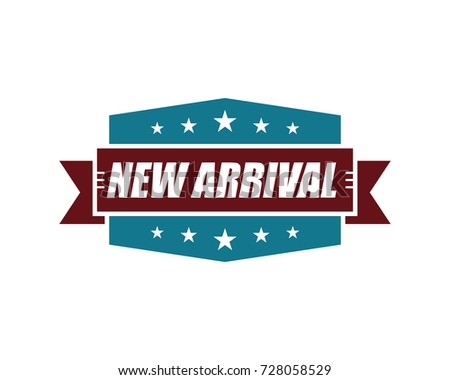 New Arrival. Retro Vintage Label