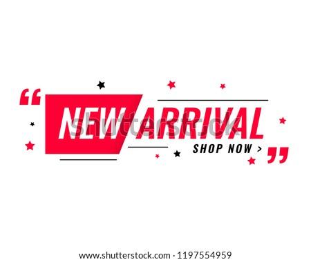 new arrival simple modern banner  Stok fotoğraf ©
