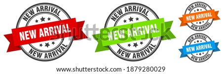 new arrival stamp. new arrival round band sign set. Label Stok fotoğraf ©