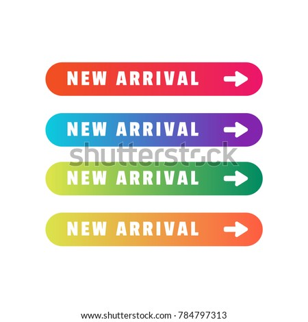 New arrival vector label button