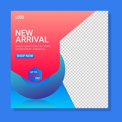 New arrivals sale banner. Abstract liquid banner. Tag or Banner Illustration As A Simple Vector and Trendy Symbol for Design Presentation or Application banner template.