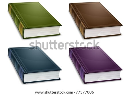 new book in colour cover with white sheet vector illustration - stock vector