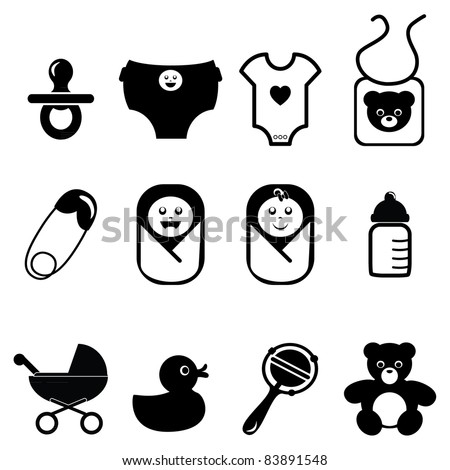 New born baby icons