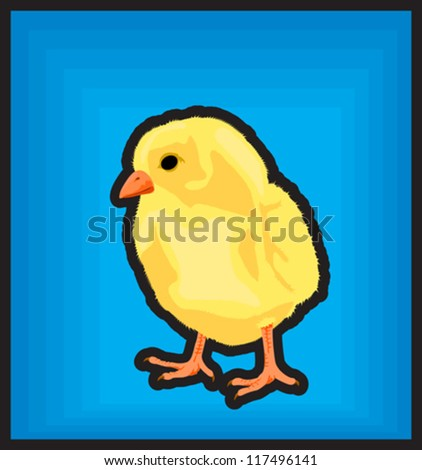 New born chicken icon clip art illustration