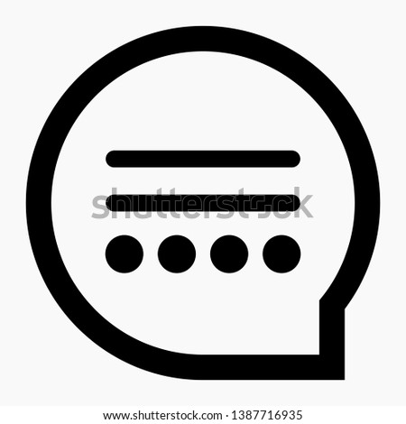 New bubble message Vector Icon. Message Icon Vector