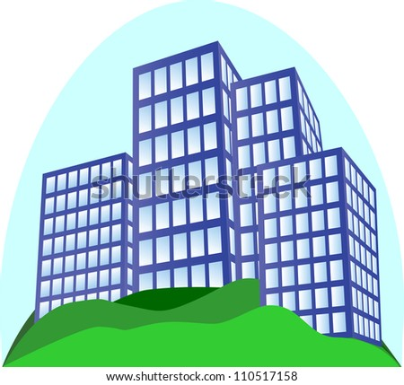 New buildings in new area, vector illustration