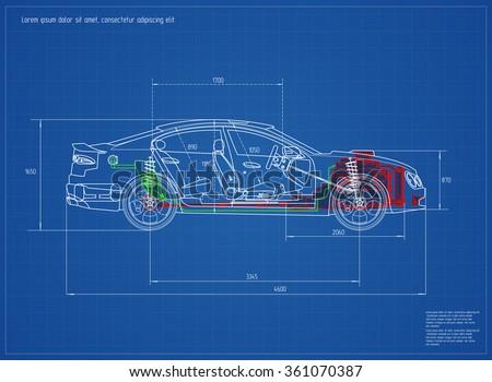 Auto Motor Strichzeichnung Hintergrund - Kostenlose Vektor-Kunst ...