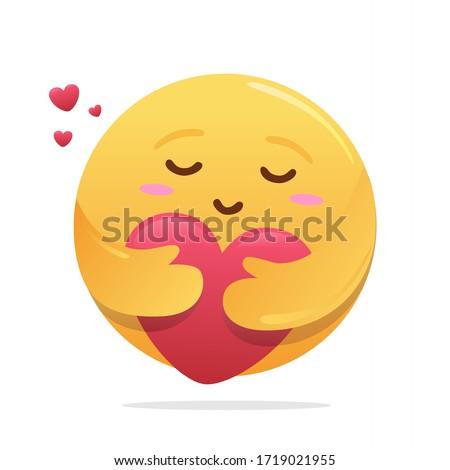 New Care React Emoji Hugging Heart Shaped Love