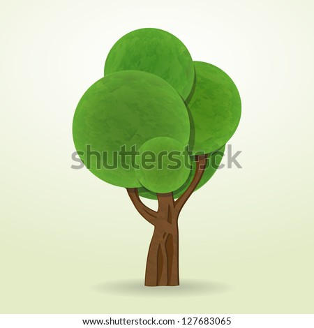 new cartoon style tree icon