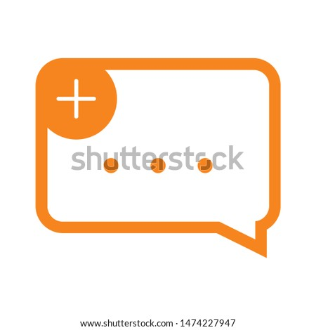 new chat icon. flat illustration of new chat vector icon. new chat sign symbol