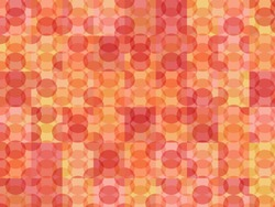 New circles geometric background. Trendy coral and pinky spherical pattern. Completely new abstract circles texture. Pop-art mosaic ornament.