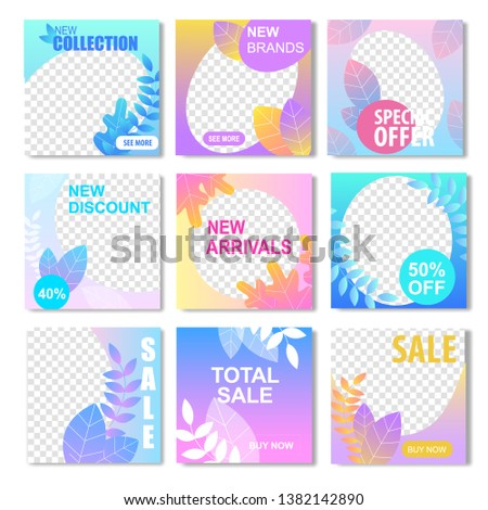 New Collection Brand Discount Arrival Special Offer Total Sale Banner with Transparent Background. Fashion Store Product Clearance Summer Spring Autumn Fall Season Promotion Super Price Social Media